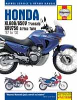 Honda Africa Twin Motorcycle Parts, Service Shop Repair Manuals